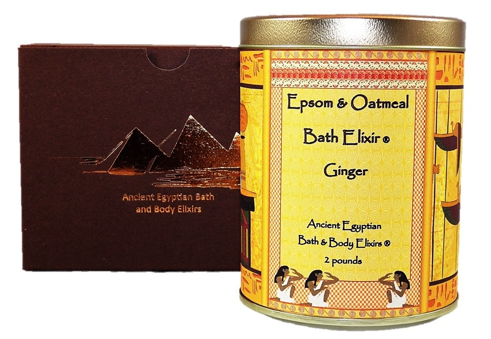 Ginger Epsom and Oatmeal Bath Elixir