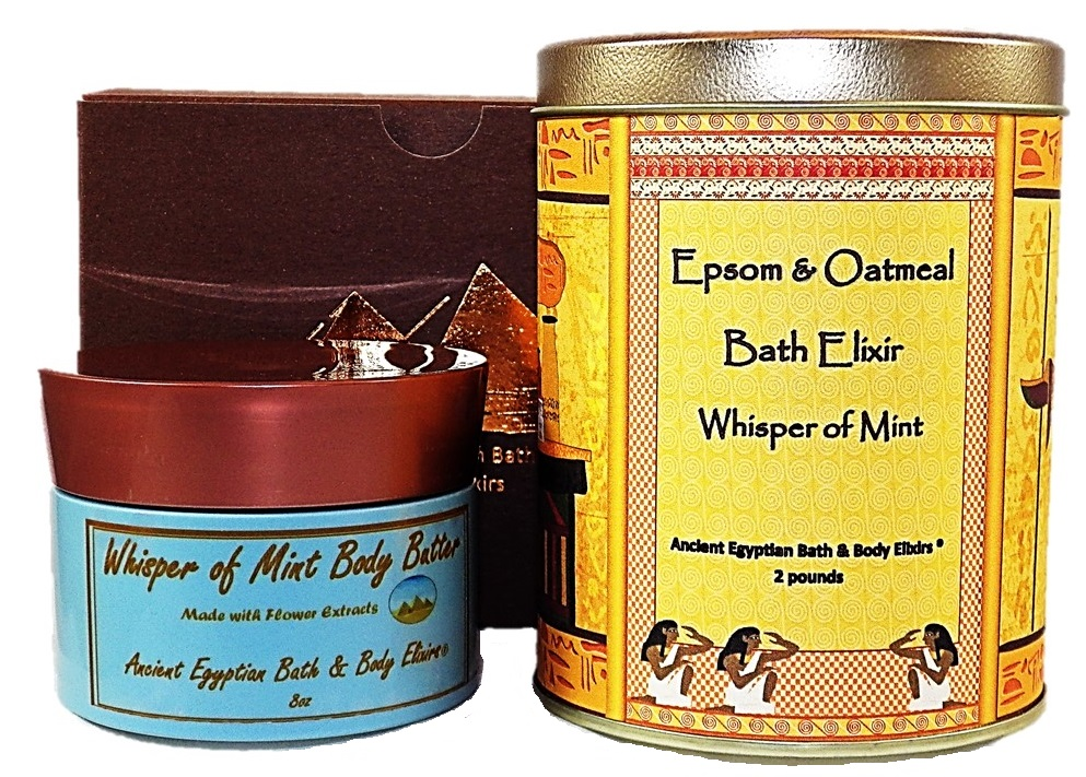 Whisper of Mint Body Butter Epsom and Oatmeal Gift Set