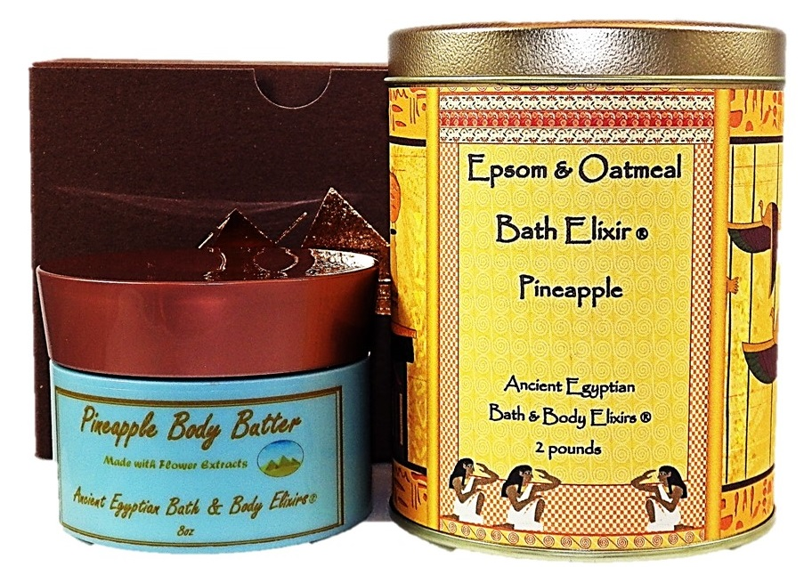 pineapple-body-butter-epsom-oatmeal-elixir-gift-set-ancient-egytian-bath-and-body-elixirs-cypress-tx